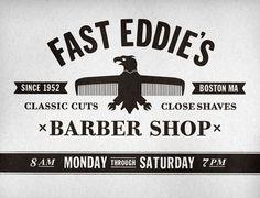 Nerdski:Inspiration   The Blog of Nerdski Design Studio #richard #eddies #hair #eagle #stewart #identity #arthur #logo #fast