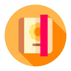 See more icon inspiration related to Tools and utensils, open book, address book, leisure, school material, reader, communications, education, reading, bookmarks, bookmark, diary, appointment book, interface, notebook, business, communication, agenda and book on Flaticon.