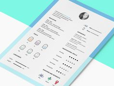 Free Clean CV Template with Icon Set