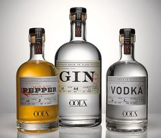 lovely package oola 1 #font #packaging #gin #vodka #spirits
