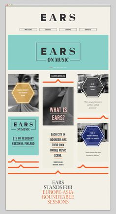 EARS #layout #website #web #web design