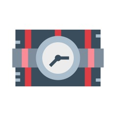 See more icon inspiration related to bomb, terrorism, detonation, miscellaneous, dynamite, explosive and weapons on Flaticon.