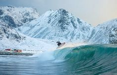 snow surfing #surf #cold water
