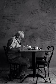How to Become a Regular #bw #old #guy #writer