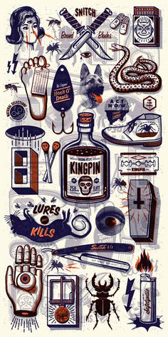 KINGPIN SKATE SUPPLY #print #illustration #kate #kingpin