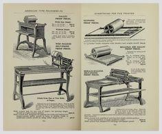 press, offset, vintage, print