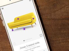 Furniture App - Product Page 360 View  #360View #ecommerce #furniture #interactive #home #decor