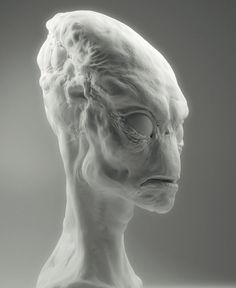White render #alien #digital #render #art