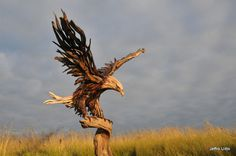 Driftwood sculptures by Jeff Rouitto #art #sculpture