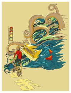 huebucket (Traffic Monday) #octopus #car #bike