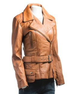 Here is amazing #leatheroutfit for women, made with #realleather, defining a #uniquestyle of the coat with attractive #tanbrown color, and belt attachment at the waist. Buy now at an exclusive price for the winter. #winterfashion #womenfashion #love #insta #trend #leatherjacket #womenjacket #coat #jacketcoat