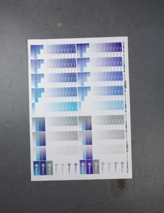 North. Moving, December 2010 #blue #north #test sheet #telewest
