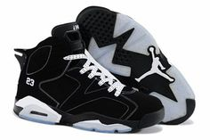 Nike Air Jordan 6 Mens with color Black and White #shoes