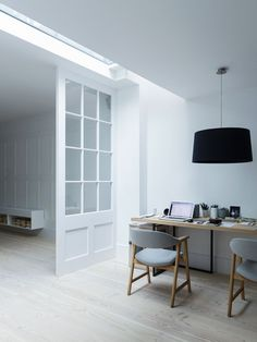 Workspace. Fulham House by Daniel Lee. #workspace #minimal