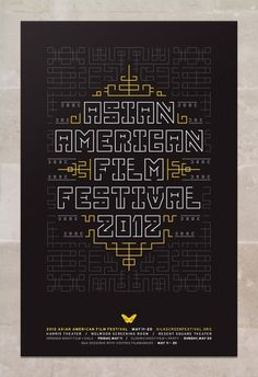 Asian American Film Festival 2012 #maze #geometric #poster #type #patern