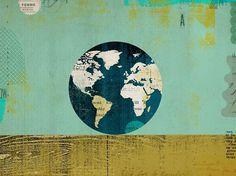 News | Dante Terzigni Illustration - Part 3 #globe #world #color #texture #illustration