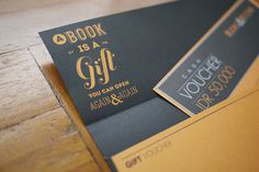 gift voucher #design #book #branding #typography