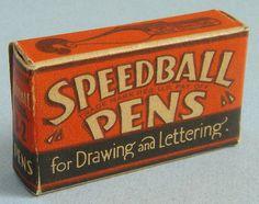 00398-Speedball Pens | Flickr - Photo Sharing! #packaging #lettering #speedball