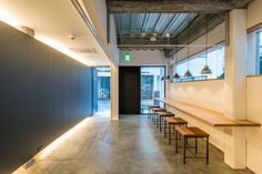 fuminori maemi architect office renovates cafe634 in tokyo #space