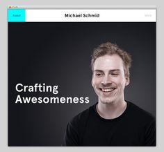 Michael Schmid #website #layout #design #web