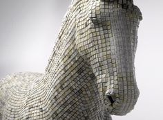 Horse Sculpture Made of Computer Keys by Babis Cloud #sculpture #horse #art