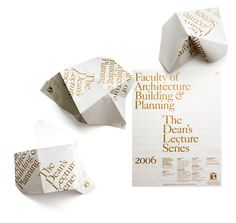 Round – University of Melbourne #fold #print #poster #folding #score