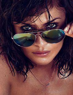 Helena Christensen by Xavi Gordo for Elle Spain #model #girl #photography #portrait #fashion #editorial #beauty