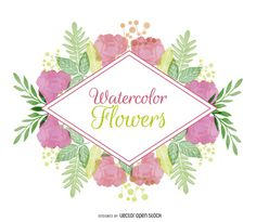 Watercolor floral badge http://bit.ly/29xf0Ch