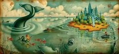 Chris Buzelli - King of Limbs #illustration #painting