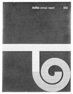 Lester Beall — Titeflex Annual Report (1958) #kk