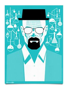 Breaking Bad Poster by Mattson Creative via grain edit #breaking #bad