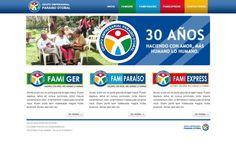Portal Web Corporativo / FamiParaiso SAS #pereira #exusmultimedia #herduin #exus #design #black #webdesign #colombia #blue #web