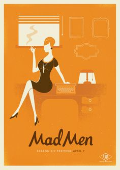Mad Men Season 6 #illustration #color #texture