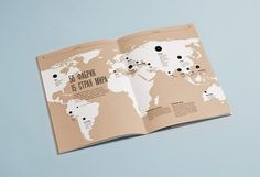 natural look. bind using twine? #magazine #design #map