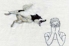 ana teresa barboza #embroidery #craft #figure #humor