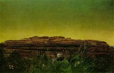 Ernst: The Entire City #decalcomania #ernst #painting