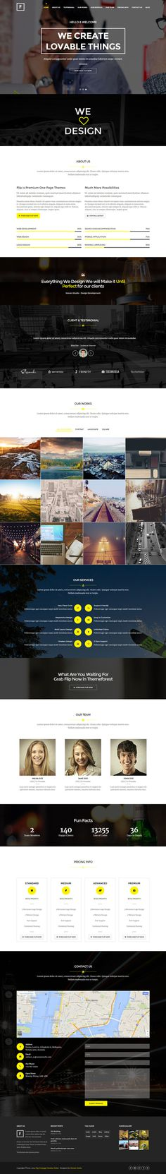 yellow, black, website, contrast, one page