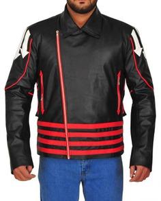 Freddie Mercury Red and Black Leather Jacket (2)