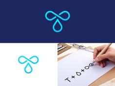 T Drop Logo #logo #almosh82 #logo designer #creative #clever #design #design #t #alphabet #water #drop