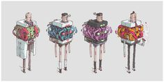 Satellitesoda Gangs by t-wei #illustration