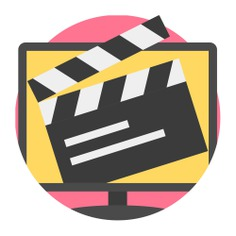 See more icon inspiration related to film, tv, cinema, program, monitor, screen, tv program, transmission, entertainment, television and movie on Flaticon.