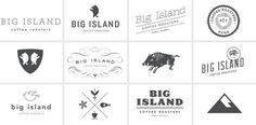 Big Island Coffee Roasters #sketches #logo