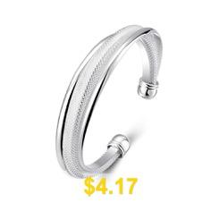 Diagonal #Mesh #Bracelet #Fashion #Modeling #Silver #Bracelet #- #SILVER