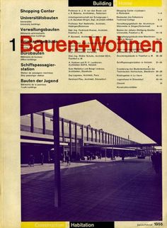 Bauen+Wohnen: Volume 04, Issue 01 | Flickr - Photo Sharing! #graphic design #typography #swiss #grid #magazine cover #bauen+wohren