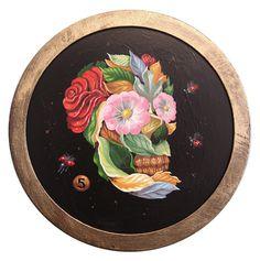 art skull flowers
