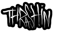 Thrashin' #lettering #white #ink #black #illustration #drawn #pen #and #type #hand