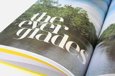 Photo book Karolien Pauly #america #water #florida #print #design #graphic #book #photo #the #usa #everglades #typography