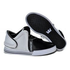 Supra Falcon White Black Men Footwear #shoe