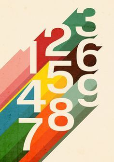 Retro Numbers by Budi Satria Kwan