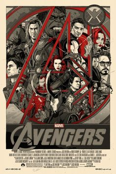 Mondo: The Archive | Tyler Stout The Avengers Variant, 2012 #movie #poster